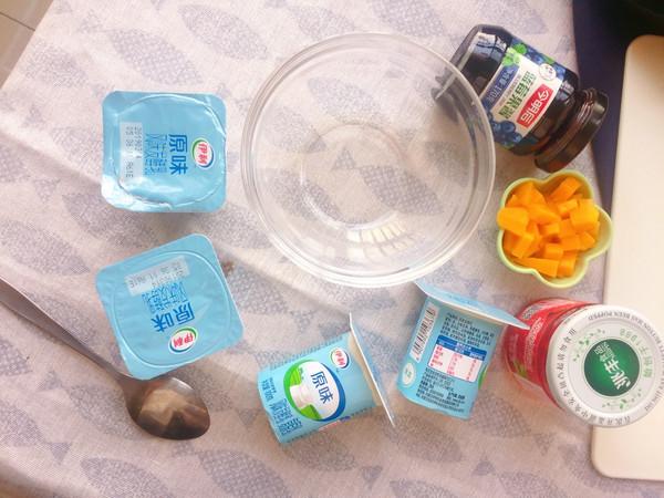 #百变水果花样吃#健康低酯的蓝莓冻酸奶