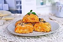 #换着花样吃早餐#红薯芝士手抓饼卷的做法