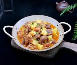 #网红美食我来做#酸汤土豆烩牛肉的做法