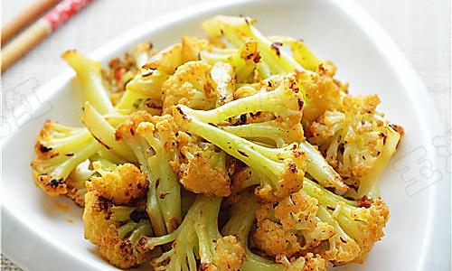 烧烤味干煸菜花的做法