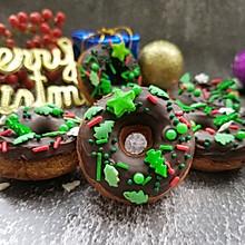 圣诞节就要做个圣诞咖啡甜甜圈#相聚组个局#