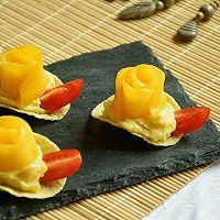 #浪漫樱花季#芒果红薯酸奶脆的做法图解9