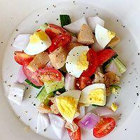 减肥必备—蔬菜鸡胸肉沙拉的做法图解2