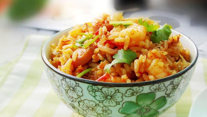 虾仁焖饭--利仁电火锅试用菜谱