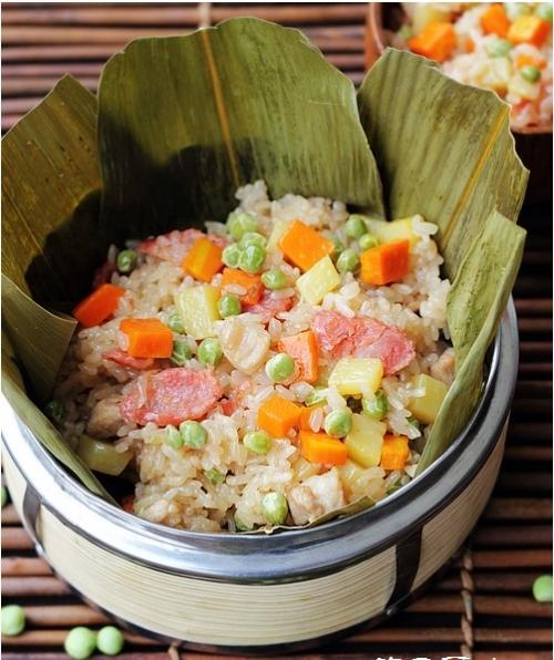 懒人粽子:什锦豌豆糯米饭的做法