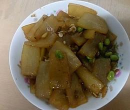 冬瓜虾皮毛豆的做法