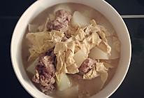 排骨腐竹炖菜头的做法
