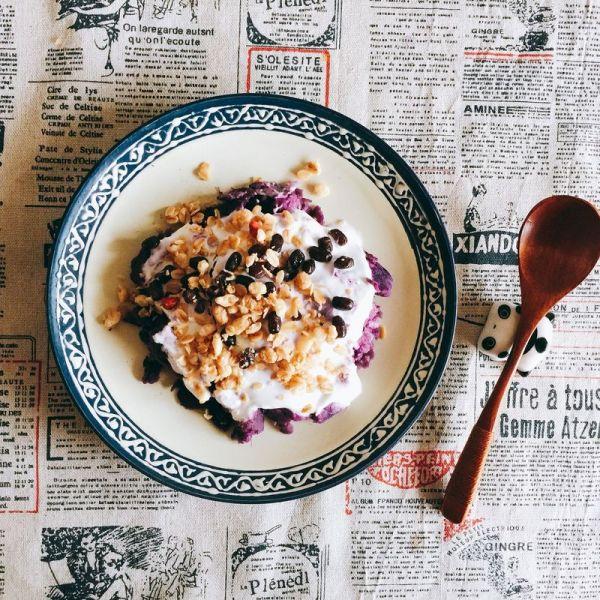 高逼格紫薯酸奶的做法