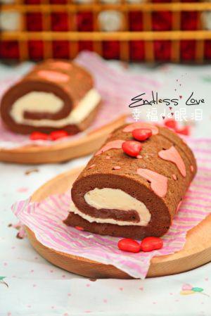 爱心巧克力蛋糕卷#长帝烘焙节华北赛区
