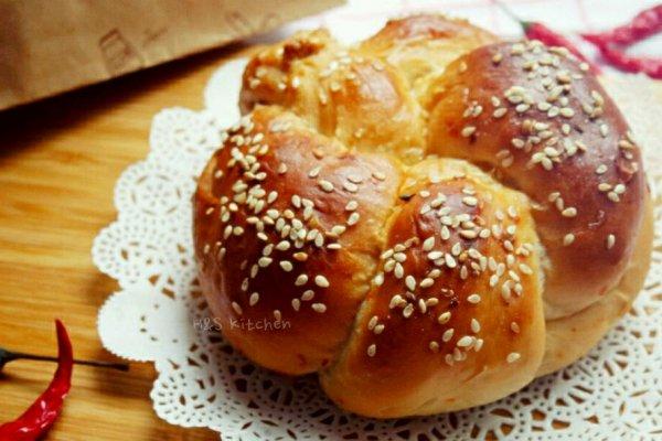 辣椒面包 #Super Hot BT辣#的做法