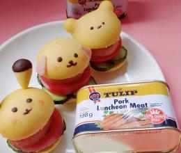不放酱汁也好吃到爆的卡通小汉堡的做法