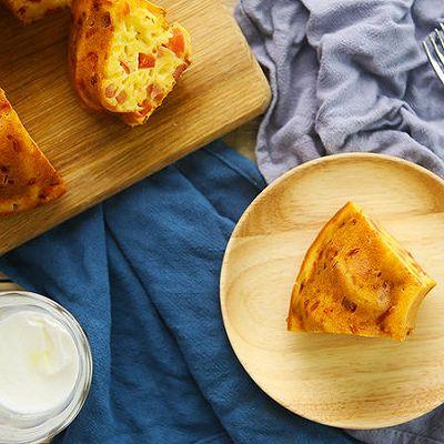 火腿芝士咸蛋糕|太阳猫早餐