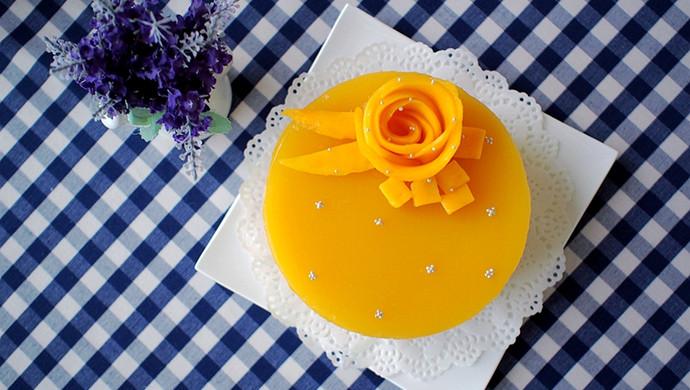 6寸芒果慕斯蛋糕