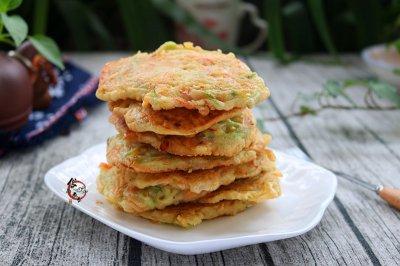 西葫芦胡萝卜鸡蛋饼#发现粗粮之美#