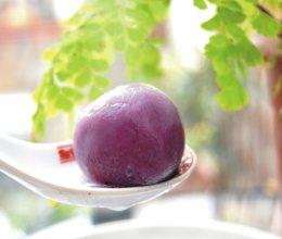 紫薯豆沙汤圆的做法