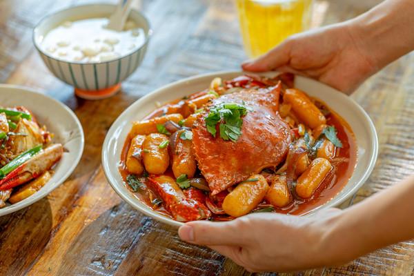 年糕梭子蟹|鲜美香浓的做法