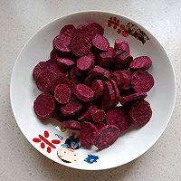 不用一滴油的健康紫薯饼的做法图解1