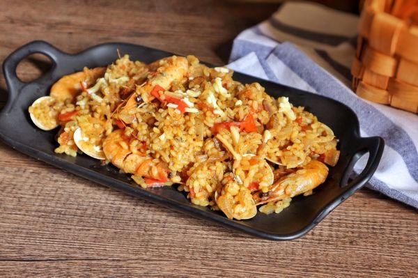 海鲜什锦烩饭的做法