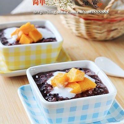 椰浆芒果紫米粥