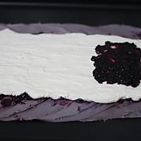 紫薯蓝莓毛巾卷的做法图解12