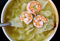 芹菜鲜虾面片的做法