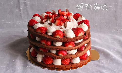 巧克力草莓蛋糕的做法