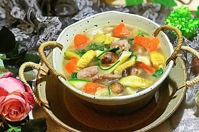 #春季食材大比拼#姬松茸春笋肉片汤
