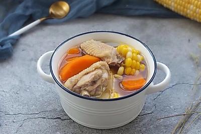 玉米胡萝卜鸡汤~电饭锅版