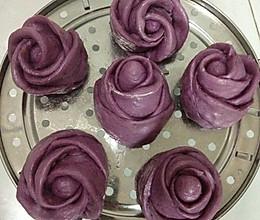 紫薯玫瑰花卷的做法