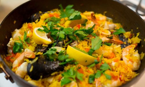 西班牙海鲜饭Paella的做法
