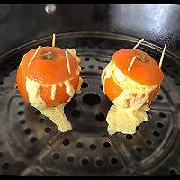 橙子蒸蛋的做法图解3