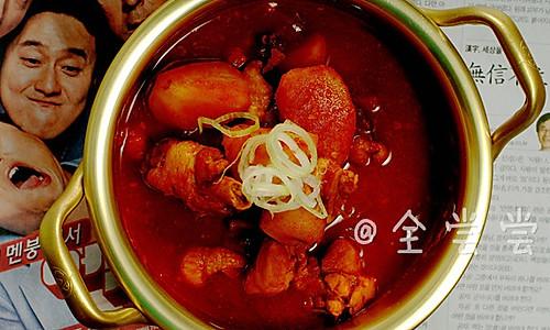 【韩国美食】—辣炖鸡汤的做法