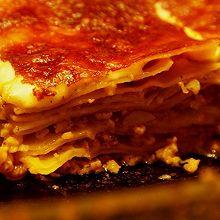 西葫芦蘑菇番茄肉酱千层面