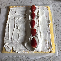 粉豹纹草莓蛋糕卷#松下多面美味#的做法图解18