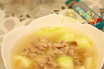 节瓜肉片汤