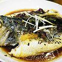 西班牙火腿蒸桂花黃魚