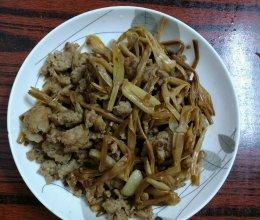 黄花菜炒肉末的做法