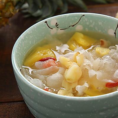 菠萝银耳羹,夏季必喝的美容养颜排毒汤
