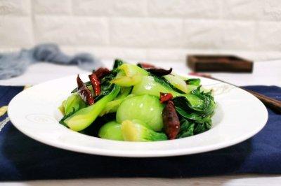 辣椒炝油菜