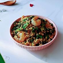 虾仁青菜豉油饭