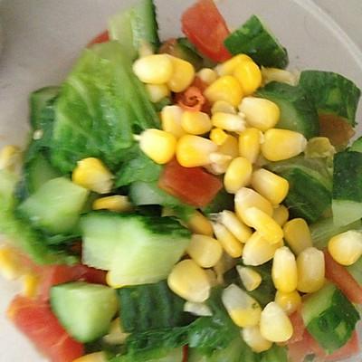 玉米生菜蔬菜沙拉