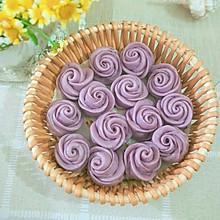 美好时光,玫瑰花紫薯馒头