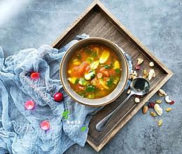 #尽享安心亲子食刻#开胃的番茄面疙瘩汤~的做法