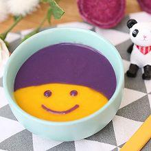 宝宝辅食食谱  南瓜紫薯米糊