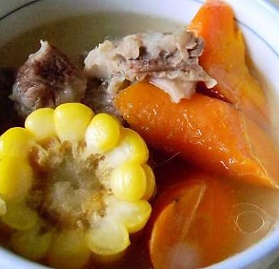 广式排骨玉米胡萝卜煲汤