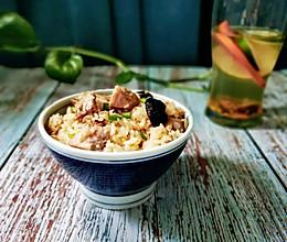 丰富餐桌味:芋头焖饭。简单调味,只为了享受食物本身的味道。的做法
