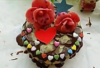 巧克力花蛋糕的做法