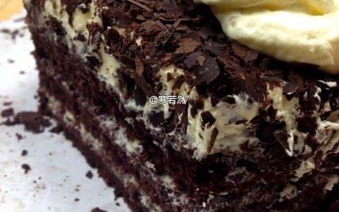 没有樱桃的黑森林蛋糕的做法
