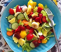 蔬果乱拌的做法