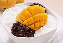 芒果白雪黑糯米甜甜 的做法